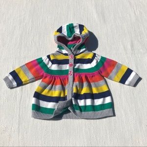 Carter's Striped Long Sleeve Cardigan Size 3 M